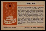 1954 Bowman Power for Peace #53   Mighty Mite Back Thumbnail