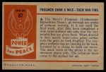 1954 Bowman Power for Peace #87   Frogmen Back Thumbnail