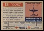 1952 Topps Wings #89   A2D Skyshark Back Thumbnail