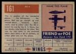 1952 Topps Wings #161   MC-4 Back Thumbnail