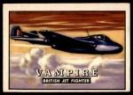 1952 Topps Wings #11   Vampire Front Thumbnail