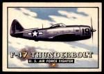 1952 Topps Wings #18   F-47 Thunderbolt Front Thumbnail
