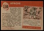 1954 Topps World on Wheels #110   Apache Back Thumbnail