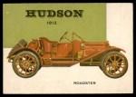 1954 Topps World on Wheels #128   Hudson Roadster 1912 Front Thumbnail