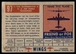 1952 Topps Wings #97   C-124 Globemaster II Back Thumbnail