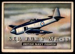 1952 Topps Wings #173   Sea Fury MK-11 Front Thumbnail