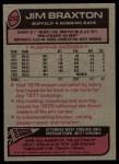 1977 Topps #252  Jim Braxton  Back Thumbnail