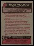 1977 Topps #19  Bob Young  Back Thumbnail