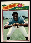1977 Topps #172  Larry Little  Front Thumbnail