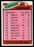1977 Topps #226   Seahawks Team Checklist Front Thumbnail