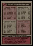 1977 Topps #208   Broncos Team Checklist Back Thumbnail