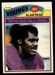 1977 Topps #230  Alan Page  Front Thumbnail