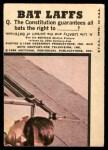 1966 Topps Batman Color #46 CLR  The Joker Back Thumbnail