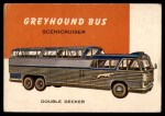 1954 Topps World on Wheels #144   Greyhound Bus Scenicruiser Front Thumbnail