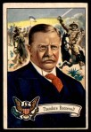 1952 Bowman U.S. Presidents #28  Theodore Roosevelt  Front Thumbnail