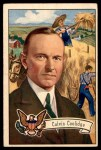 1952 Bowman U.S. Presidents #32  Calvin Coolidge   Front Thumbnail
