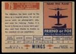 1952 Topps Wings #79   SA-16 Albatross Back Thumbnail
