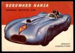 1954 Topps World on Wheels #34   Borgward Hansa Front Thumbnail