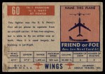 1952 Topps Wings #60   FH-1 Phantom Back Thumbnail