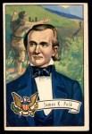 1952 Bowman U.S. Presidents #14  James K Polk    Front Thumbnail