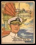 1941 Gum Inc. War Gum #9   Admiral Thomas Charles Hart Front Thumbnail