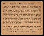 1941 Gum Inc. War Gum #29   Three U.S. Pilots Face 108 Japanese Back Thumbnail