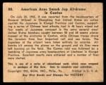 1941 Gum Inc. War Gum #88   American Aces Smash Japanese Airdome In Cntn. Back Thumbnail