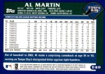2003 Topps Traded #49 T Al Martin  Back Thumbnail