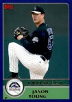 2003 Topps Traded #127 T  -  Jason Young Prospect Front Thumbnail