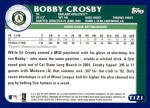 2003 Topps Traded #121 T  -  Bobby Crosby Prospect Back Thumbnail