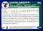 2003 Topps Traded #160 T  -  Jason Arnold Prospect Back Thumbnail