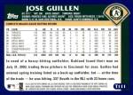 2003 Topps Traded #111 T Jose Guillen  Back Thumbnail