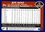 2003 Topps Traded #71 T Jeff Kent  Back Thumbnail