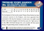 2003 Topps Traded #187 T  -  Thomari Story-Harden First Year Back Thumbnail