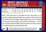 2003 Topps Traded #173 T  -  Matt Hensley First Year Back Thumbnail