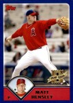 2003 Topps Traded #173 T  -  Matt Hensley First Year Front Thumbnail