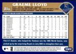 2003 Topps Traded #89 T Graeme Lloyd  Back Thumbnail