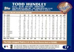 2003 Topps Traded #7 T Todd Hundley  Back Thumbnail