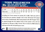 2003 Topps Traded #182 T  -  Todd Wellemeyer First Year Back Thumbnail