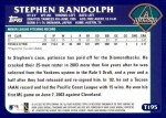 2003 Topps Traded #195 T  -  Stephen Randolph First Year Back Thumbnail