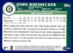 2003 Topps Traded #156 T  -  John Rheinecker Prospect Back Thumbnail