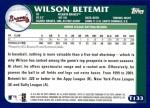 2003 Topps Traded #133 T  -  Wilson Betemit Prospect Back Thumbnail