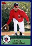 2003 Topps Traded #131 T  -  Casey Kotchman Prospect Front Thumbnail