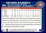 2003 Topps Traded #112 T Aramis Ramirez  Back Thumbnail