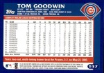 2003 Topps Traded #47 T Tom Goodwin  Back Thumbnail