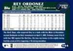 2003 Topps Traded #44 T Rey Ordonez  Back Thumbnail