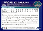 2003 Topps Traded #224 T  -  Oscar Villarreal First Year Back Thumbnail