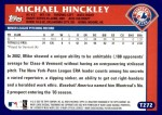 2003 Topps Traded #272 T  -  Michael Hinckley First Year Back Thumbnail