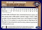 2003 Topps Traded #226 T  -  Kade Johnson First Year Back Thumbnail