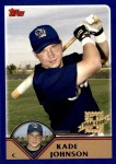 2003 Topps Traded #226 T  -  Kade Johnson First Year Front Thumbnail
